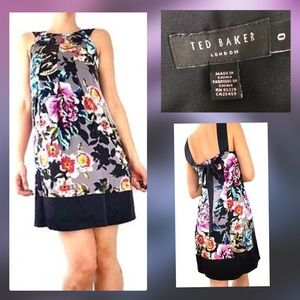 """Ted Baker Floral Silk """"Kimby"""" Dress US Size 2"""